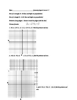 Perimeter and Area in the coordinate plane