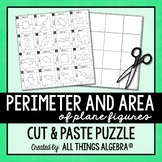 Perimeter and Area of Plane Figures Puzzle