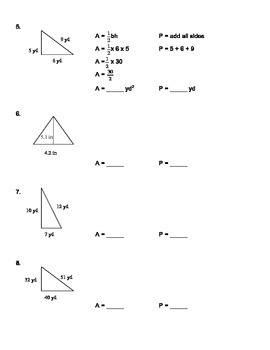Perimeter and Area of Rectangles, Parallelograms, and Triangles