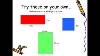 Perimeter and Area of Rectangles and Squares
