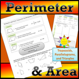 Perimeter and Area of Triangles, Parallelograms, and Trapezoids