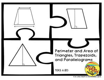 Perimeter and Area of Triangles, Trapezoids, and Parallelo