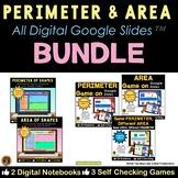 Perimeter and Area on Google Slides All Digital Bundle 4