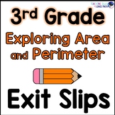 Perimeter and Complex Area Math Exit Slips 3rd Grade Common Core