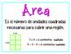 Perimeter and area anchor chart spanish (Perímetro y área)