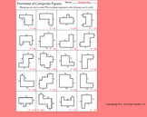 Perimeter of Composite Figures Worksheet