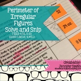 Perimeter of Composite Figures Solve and Snip® Interactive Word Problems