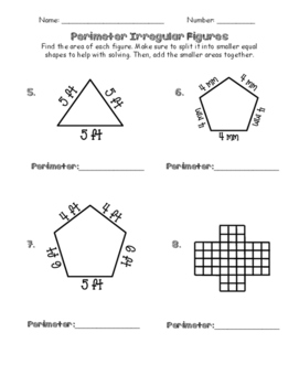 Perimeter of Irregular Figures and Polygons