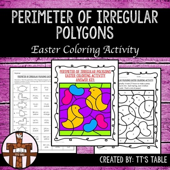 Perimeter of Irregular Polygons Easter Coloring Activity
