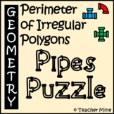 Perimeter of Irregular Polygons - Pipes Puzzle Activity