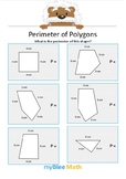 Perimeter of Polygons 1 - Find the perimeter - Gr 3