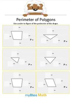 Perimeter of Polygons 2 - Find the perimeter - Gr 2/3