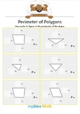 Perimeter of Polygons 2 - Find the perimeter - Gr 2/3