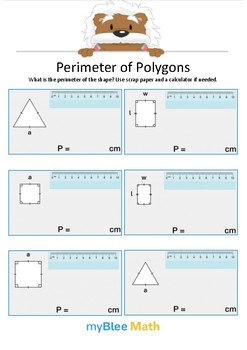 Perimeter of Polygons 5 - What is the perimeter? - Gr 4