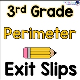 Perimeter of Polygons Math Exit Slips 3rd Grade Common Core