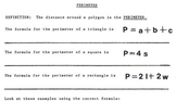 Perimeter of Polygons - Spanish Version