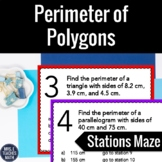Perimeter of Polygons Stations Maze Activity