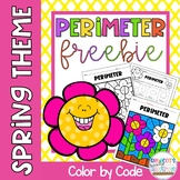 Perimeter of Rectangles Color by Number Spring No Prep Dis