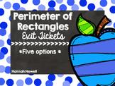 Perimeter of Rectangles Exit Tickets
