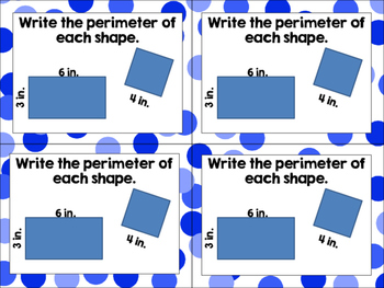 Perimeter of Rectangles Exit Tickets