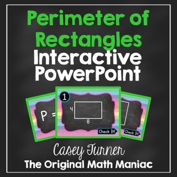 Perimeter of Rectangles Interactive PowerPoint