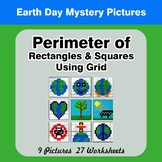 Perimeter of Rectangles & Squares (Using Grid) - Earth Day Color By Code