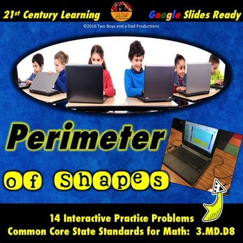 Perimeter of Shapes Practice for Google Drive