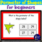 Perimeter of Shapes for Beginners BOOM Cards