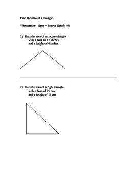 Perimeter of Triangles