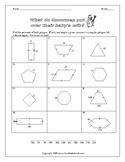 Perimeter of Polygons Riddle Worksheet