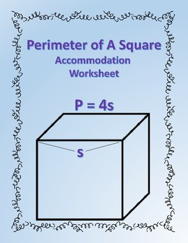 Perimeter of a Square: Formula Accommodations Template