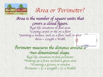 Perimeter or Area? Clarifying Poster