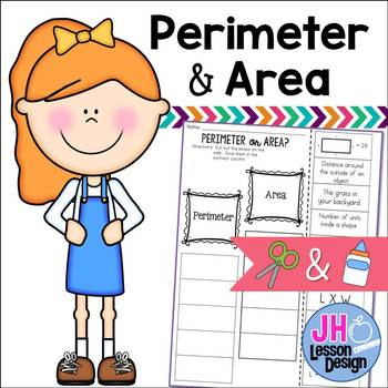 Perimeter or Area? Cut and Paste Sorting Activity