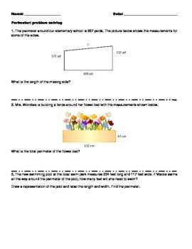 Perimeter: problem solving activity