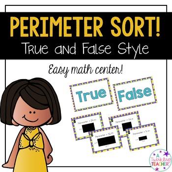Perimeter true false math center sort