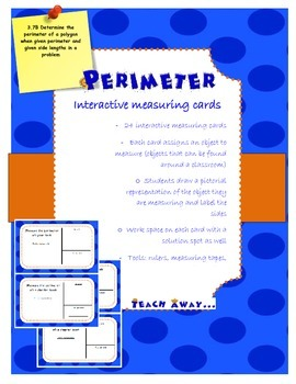 Perimeter:interactive measuring task cards