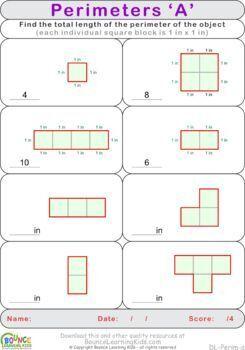 Perimeters (10 Numeracy sheets)