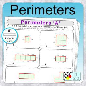 Perimeters (10 distance learning worksheets for Numeracy)