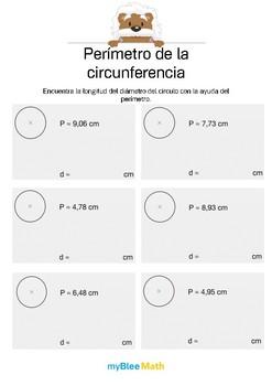 Perímetro de la circunferencia 2 - Encontrar la longitud del diámetro