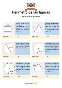 Perímetro de las figuras 5 - Problemas de perímetro