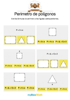 Perímetro de polígonos 2 - Fórmulas de perímetro