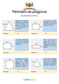 Perímetro de polígonos 3 - Problemas de perímetro