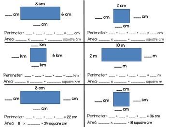 Perimiter and Area Quiz