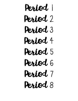 Period 1-8 Labels *FREE PRINTABLE*
