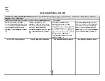 Period 8 (1945-1980) - Key Concepts Outlines for APUSH (American Pageant)
