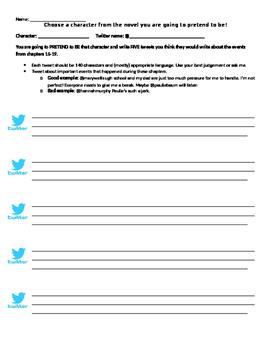 """Period 8 """"Tweet"""" Worksheet"""