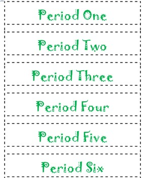 Period Labels