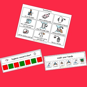 Period / Sanitary Visual Routine Pack - Boardmaker Visual Aids for Autism