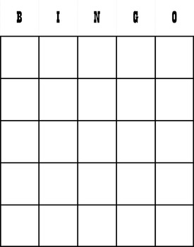 Period Table & Atoms Bingo