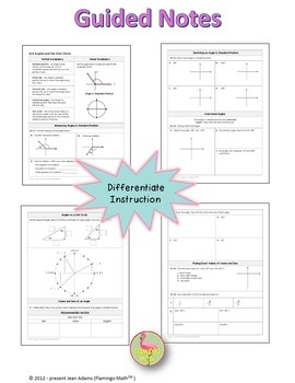 Algebra 2: Angles and the Unit Circle
